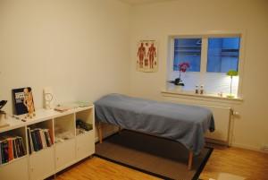 Behandlingsrum på klinikken i København